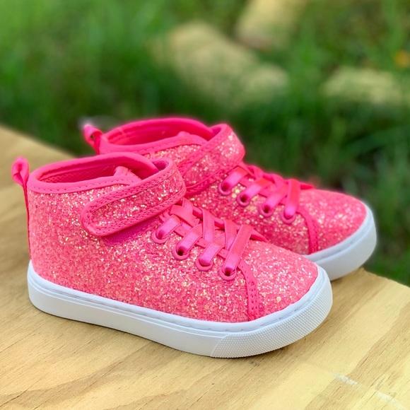 Toddler Girls Athletic Glitter Hitop
